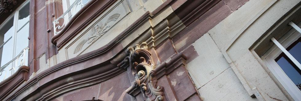 détail de la façade